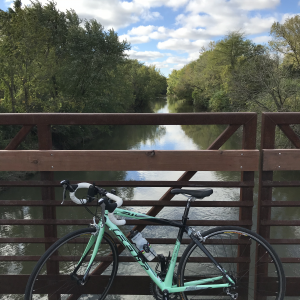 Bike on River