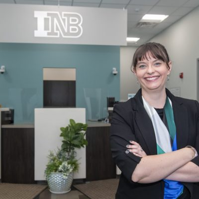 Lanna Bartko INB for Champaign Center Partnership at her office ion Champaign on Friday, September 18, 2020.